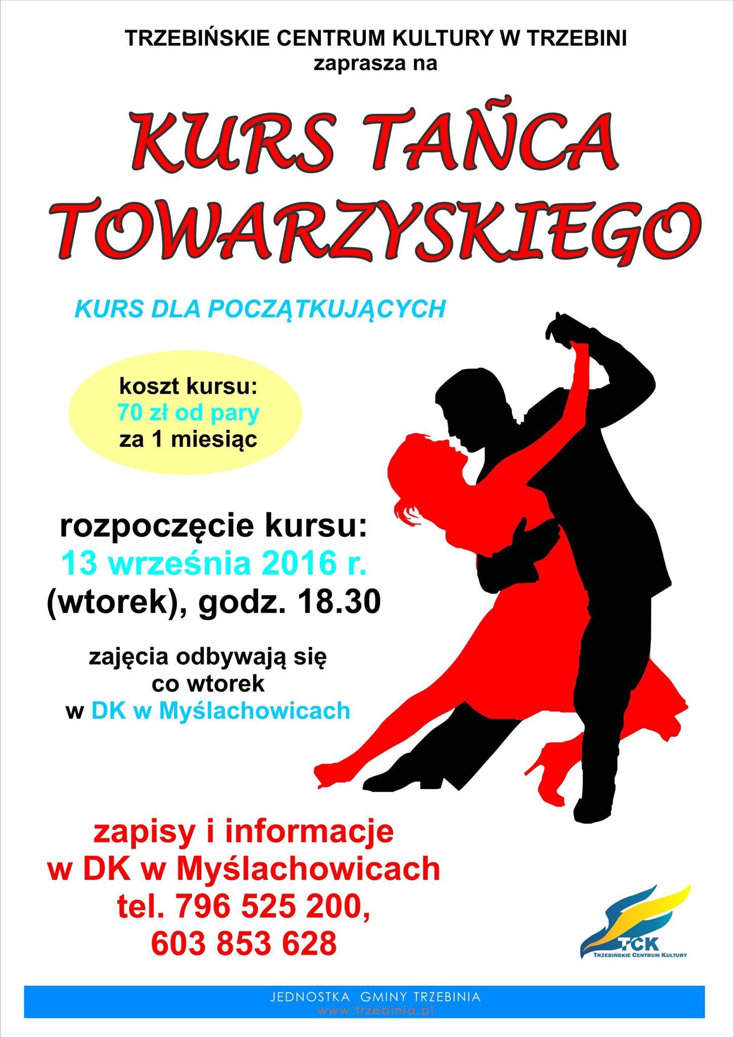 Kurs tańca dla dorosłych w Myślachowicach