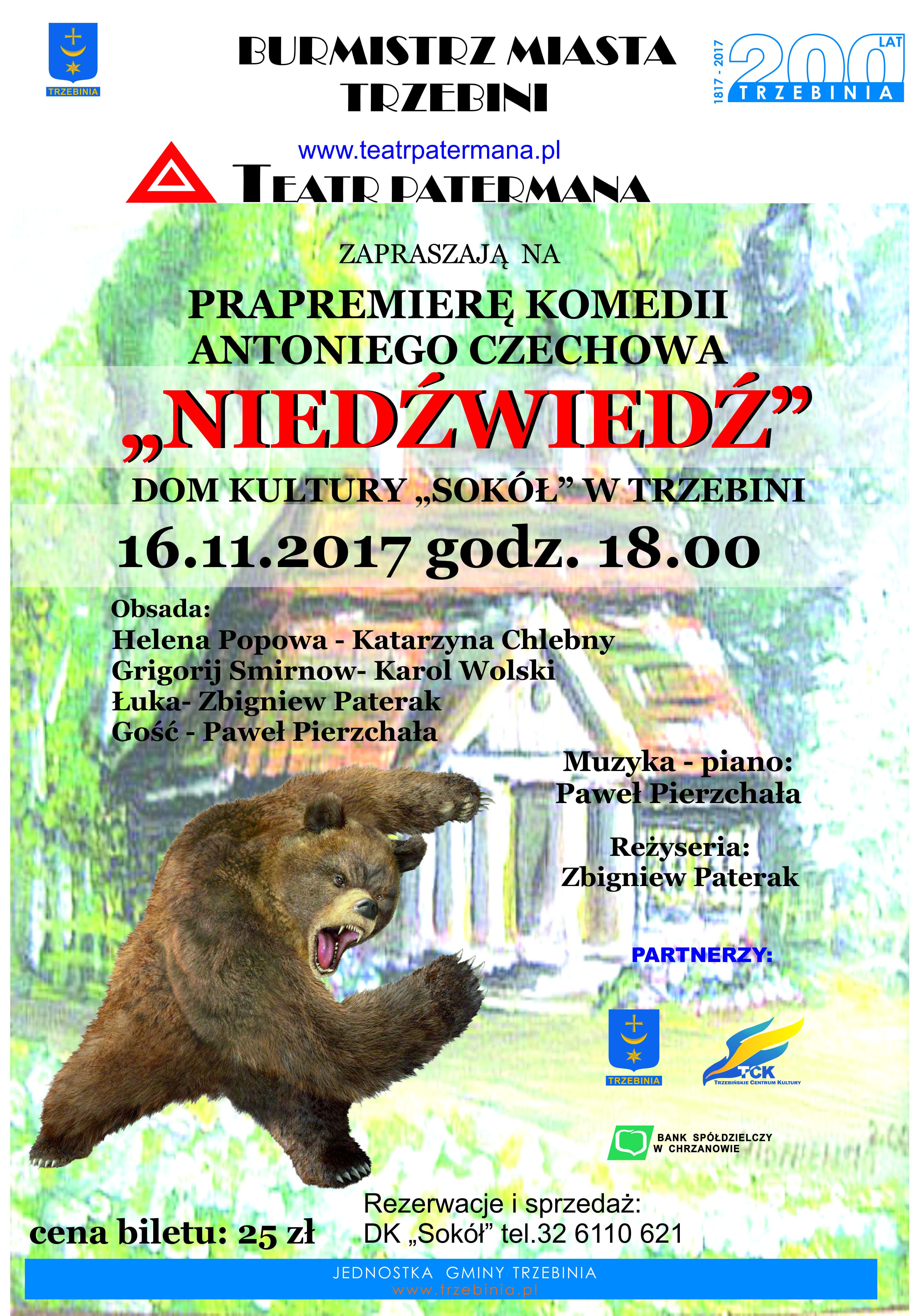 """Spektakl teatralny """"Niedźwiedź"""""""