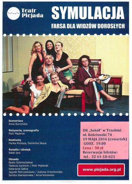 """""""Symulacja"""" spektakl teatralny dla dorosłych"""