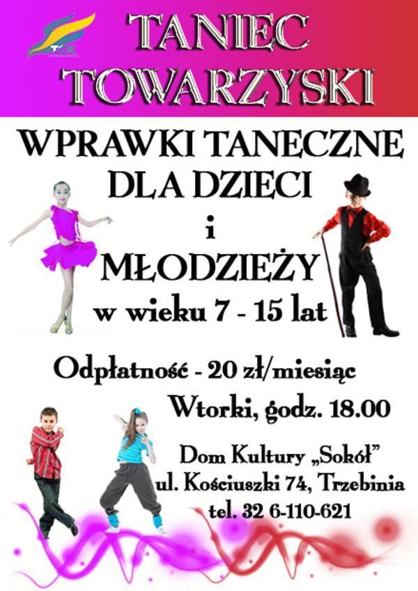 """Wprawki taneczne dla dzieci i młodzieży w Domu Kultury """"Sokół"""""""