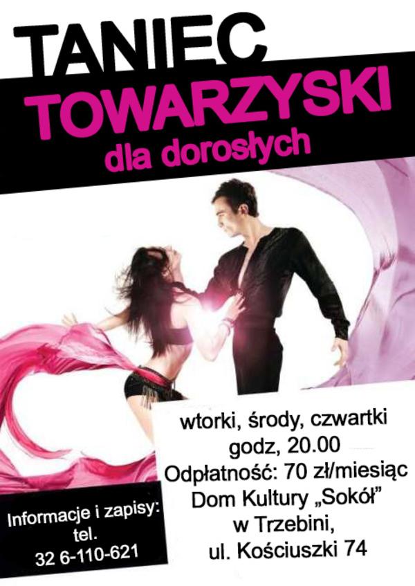 """Taniec towarzyski dla dorosłych w Domu Kultury """"Sokół"""""""