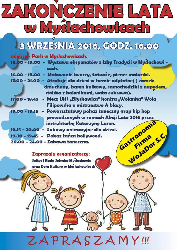 Zakończenie lata w Myslachowicach, 3 września 2016