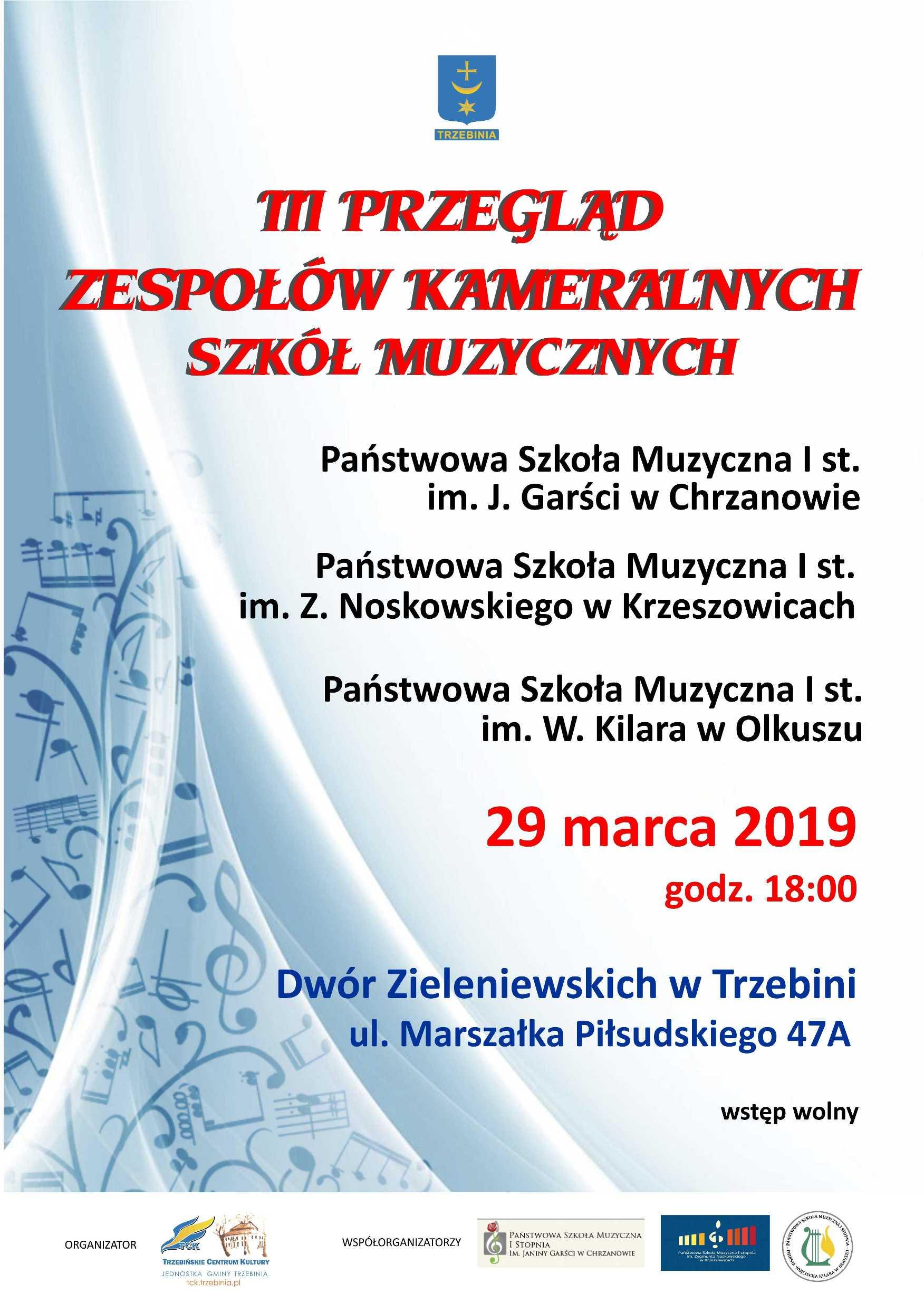 III Przegląd Zespołów Kameralnych Szkół Muzycznych I st.