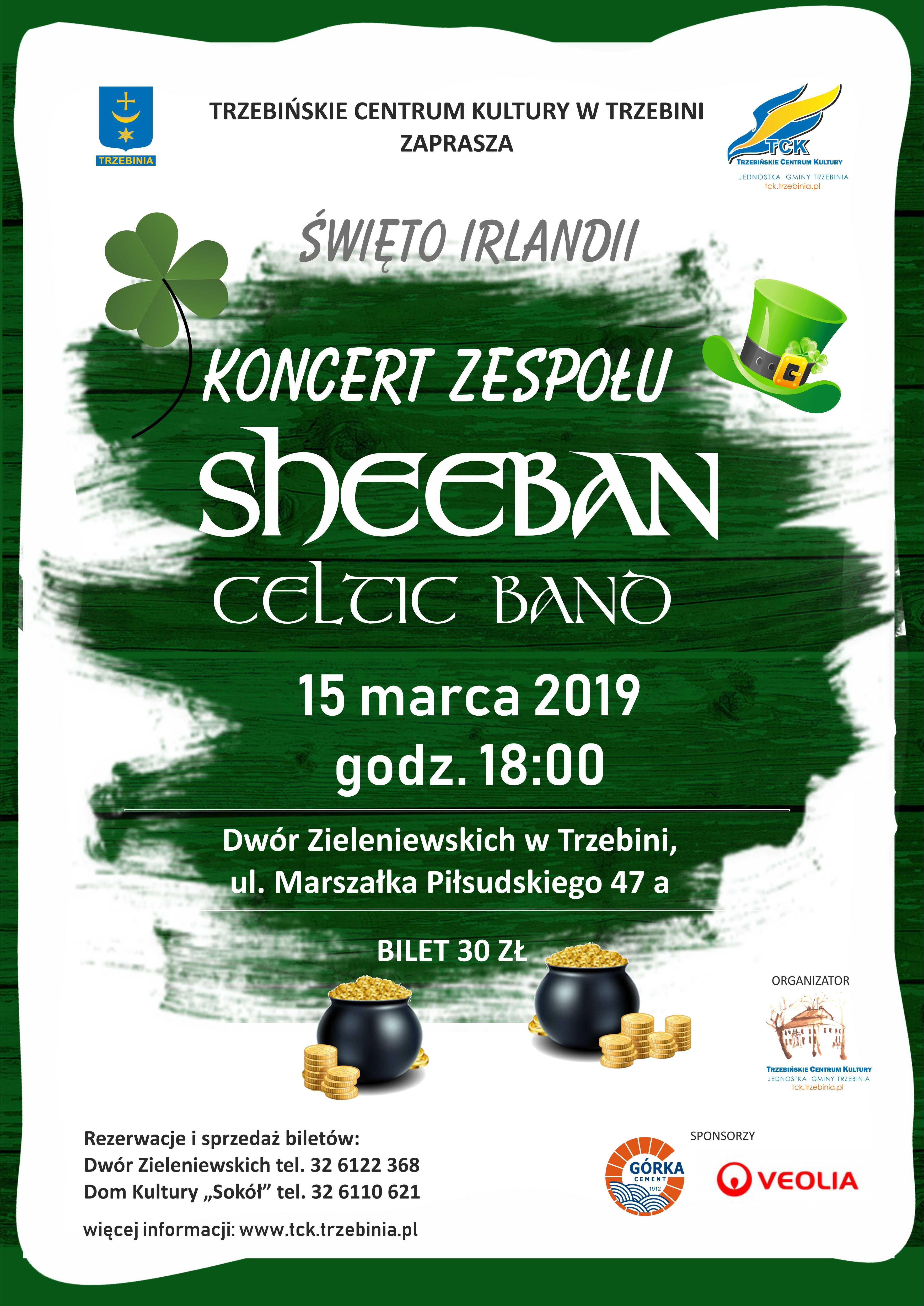 Święto Irlandii - koncert zespołu Sheeban Celtic Band