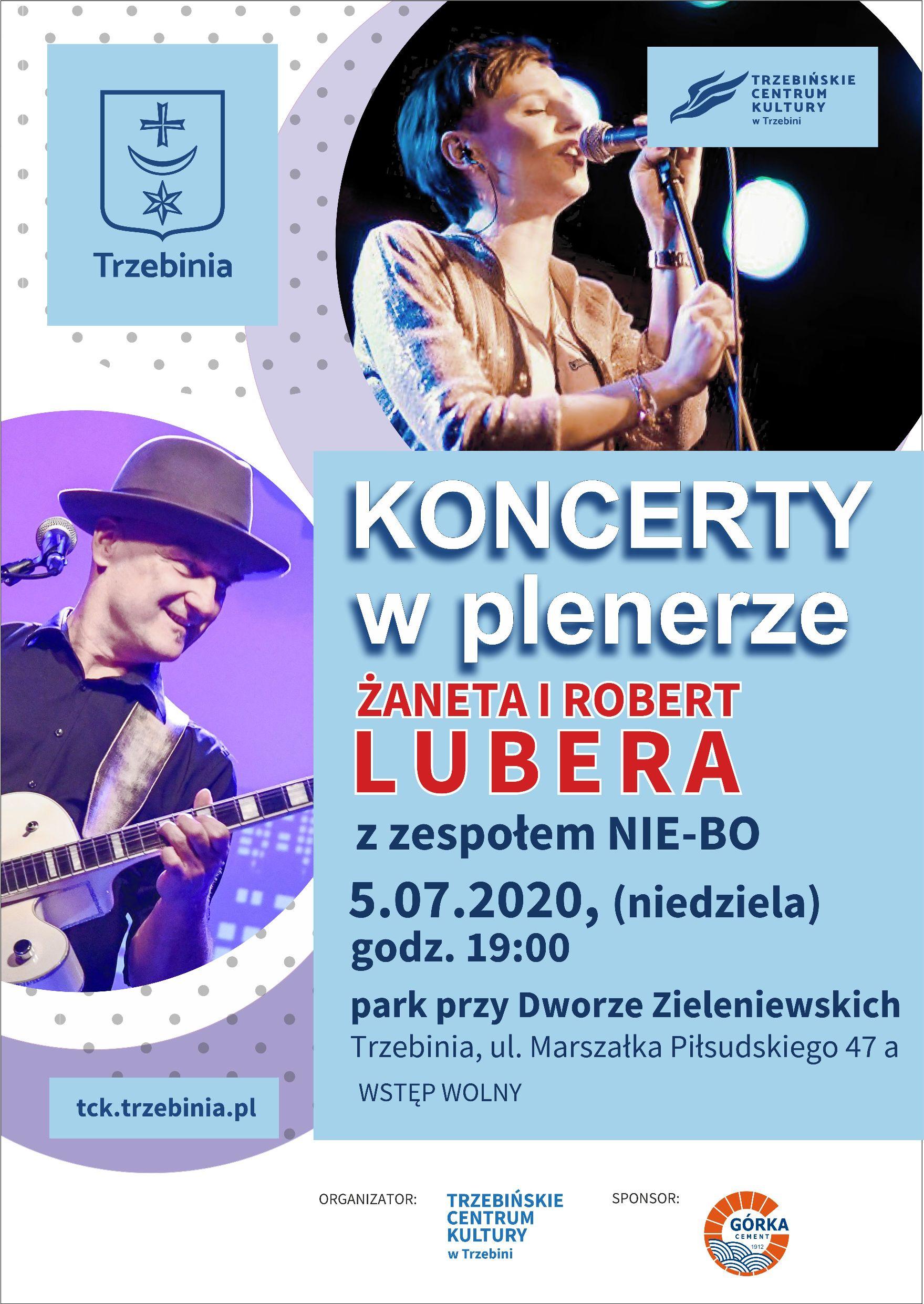 Koncerty w plenerze - Żaneta i Robert Lubera z zespołem Nie-Bo