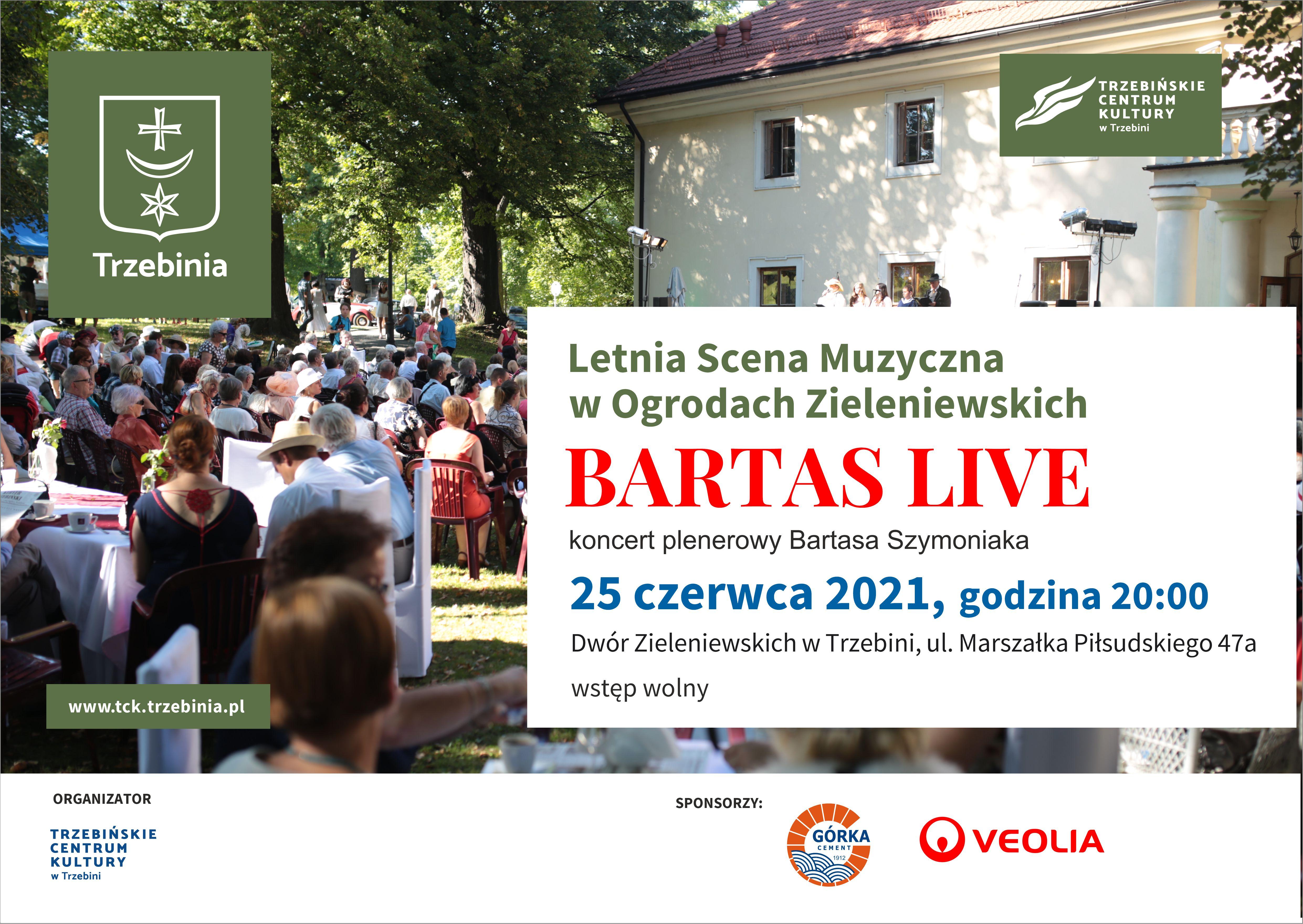 Bartas Live koncert plenerowy Bartasa Szymoniaka