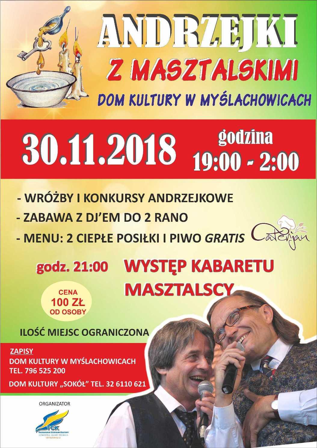 Zabawa andrzejkowa z kabaretem Masztalski