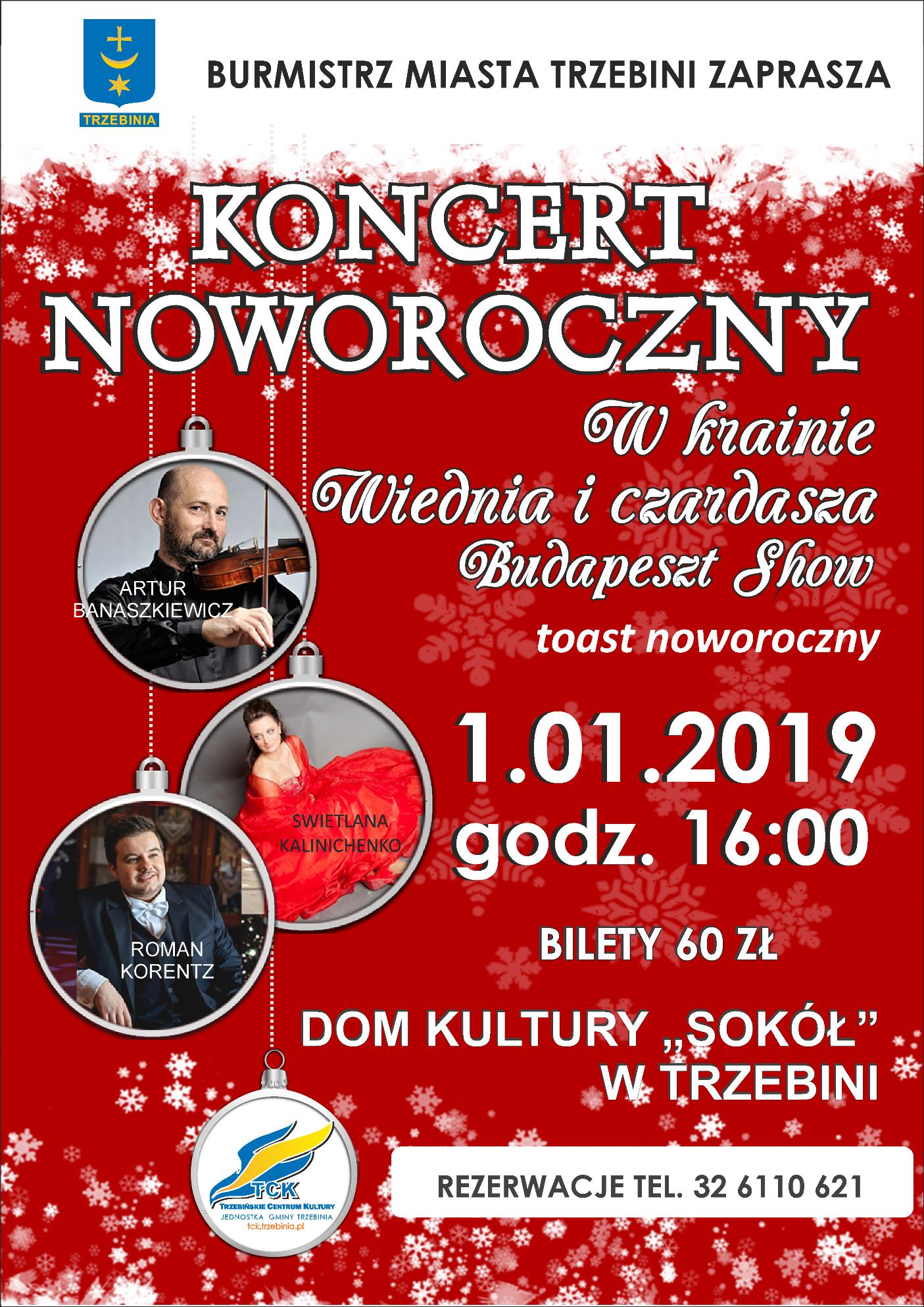 """Koncert Noworoczny w """"Sokole"""""""