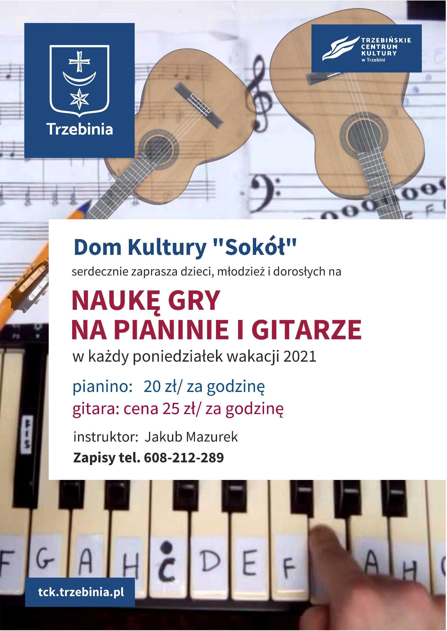 plakat naukagry pianino gitara