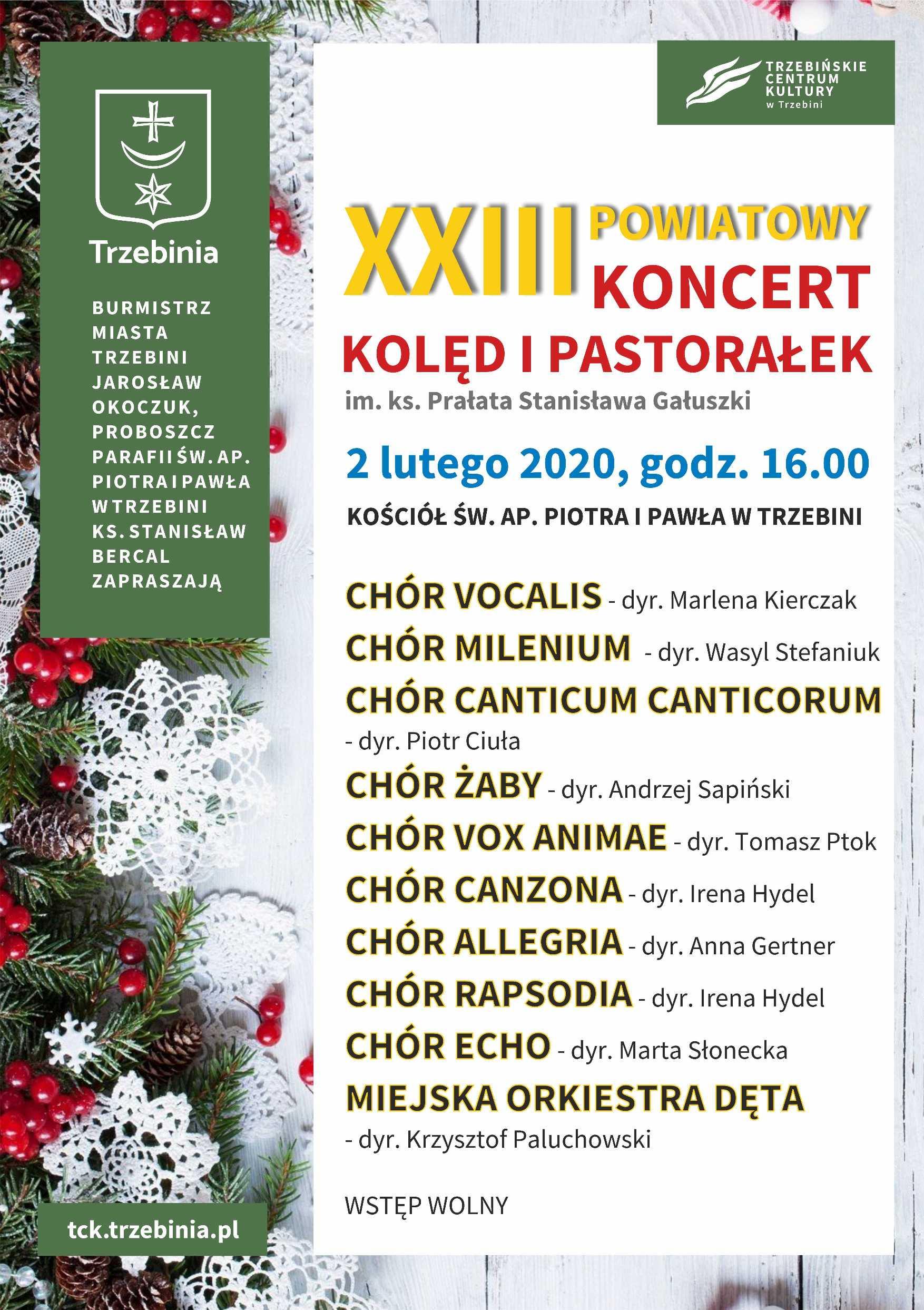 XXIII Powiatowy Koncert i Pastorałek