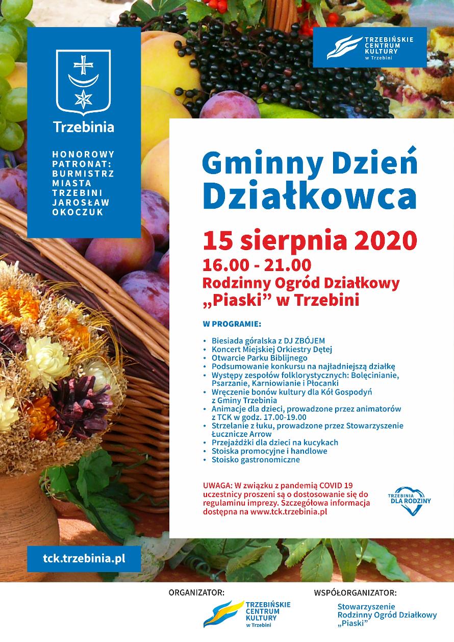 Plakat Dzień Działkowca 2020