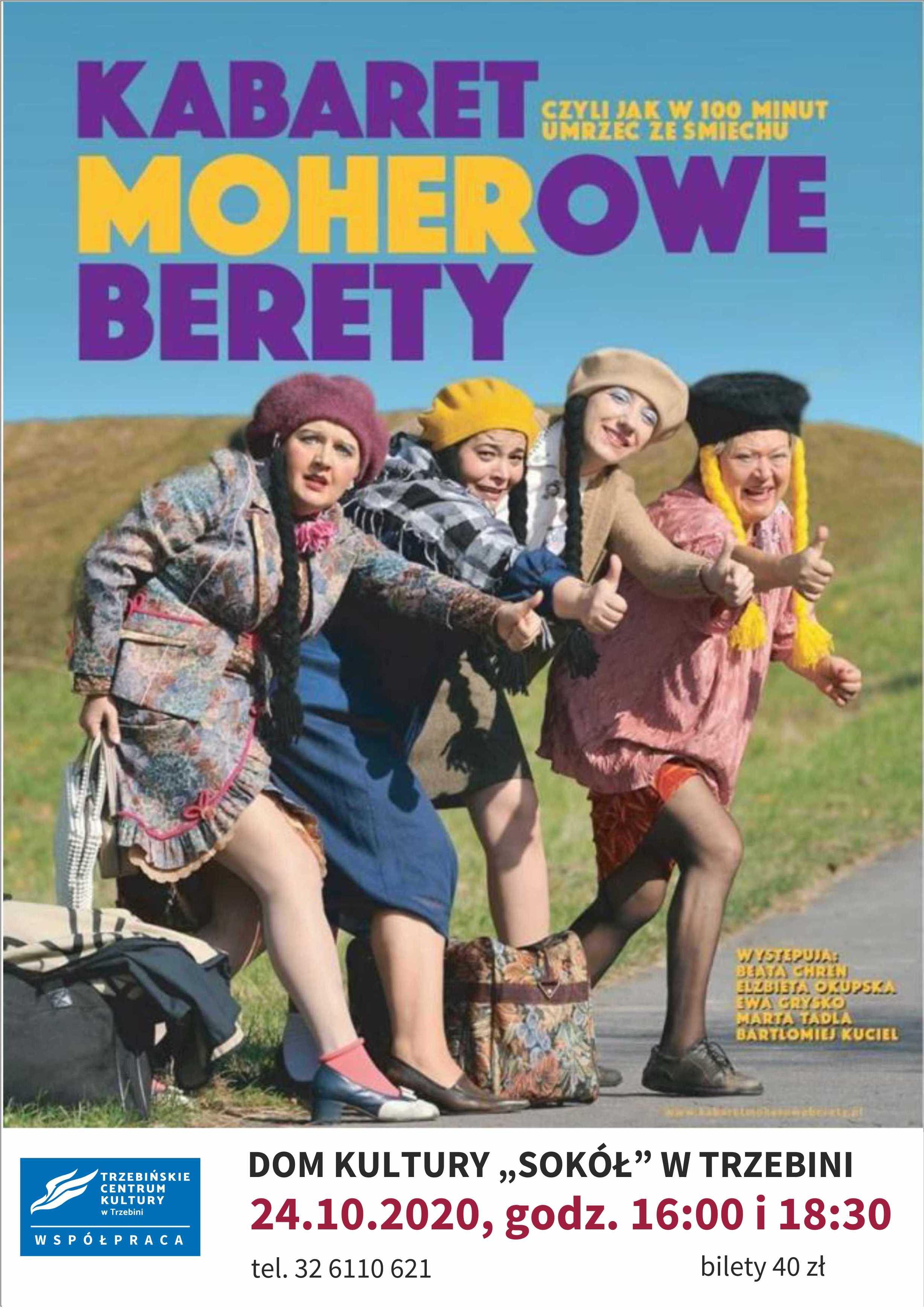 """Kabaret """"Moherowe Berety""""- spektakl odwołany"""