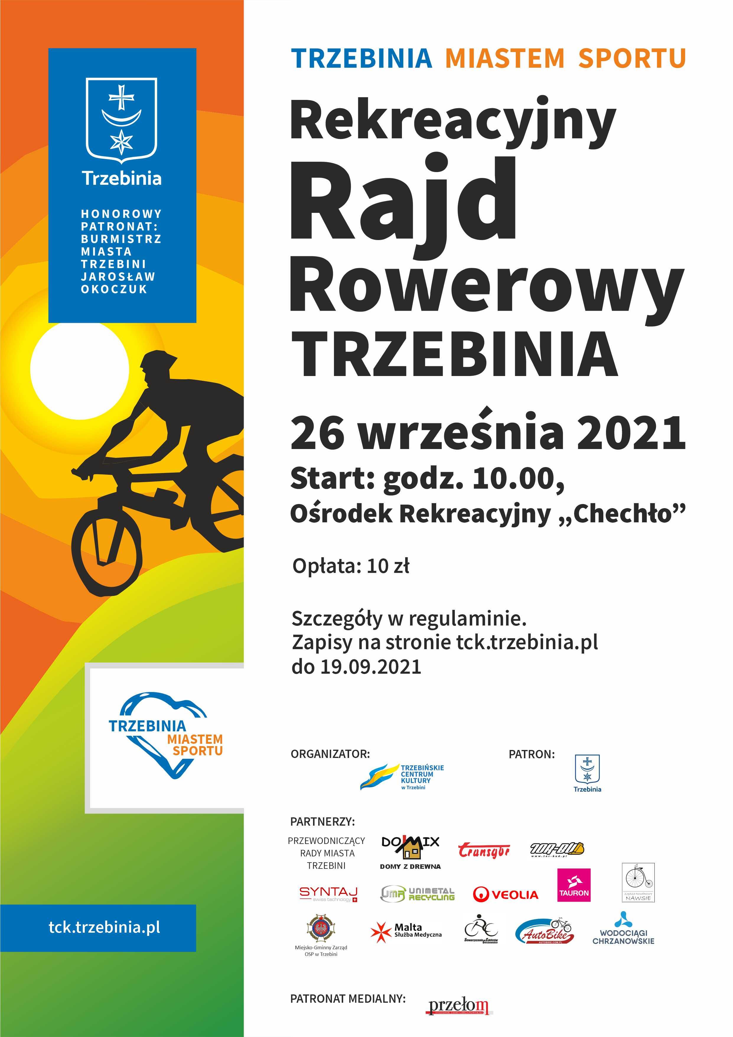 rajd rowerowy2021 plakat