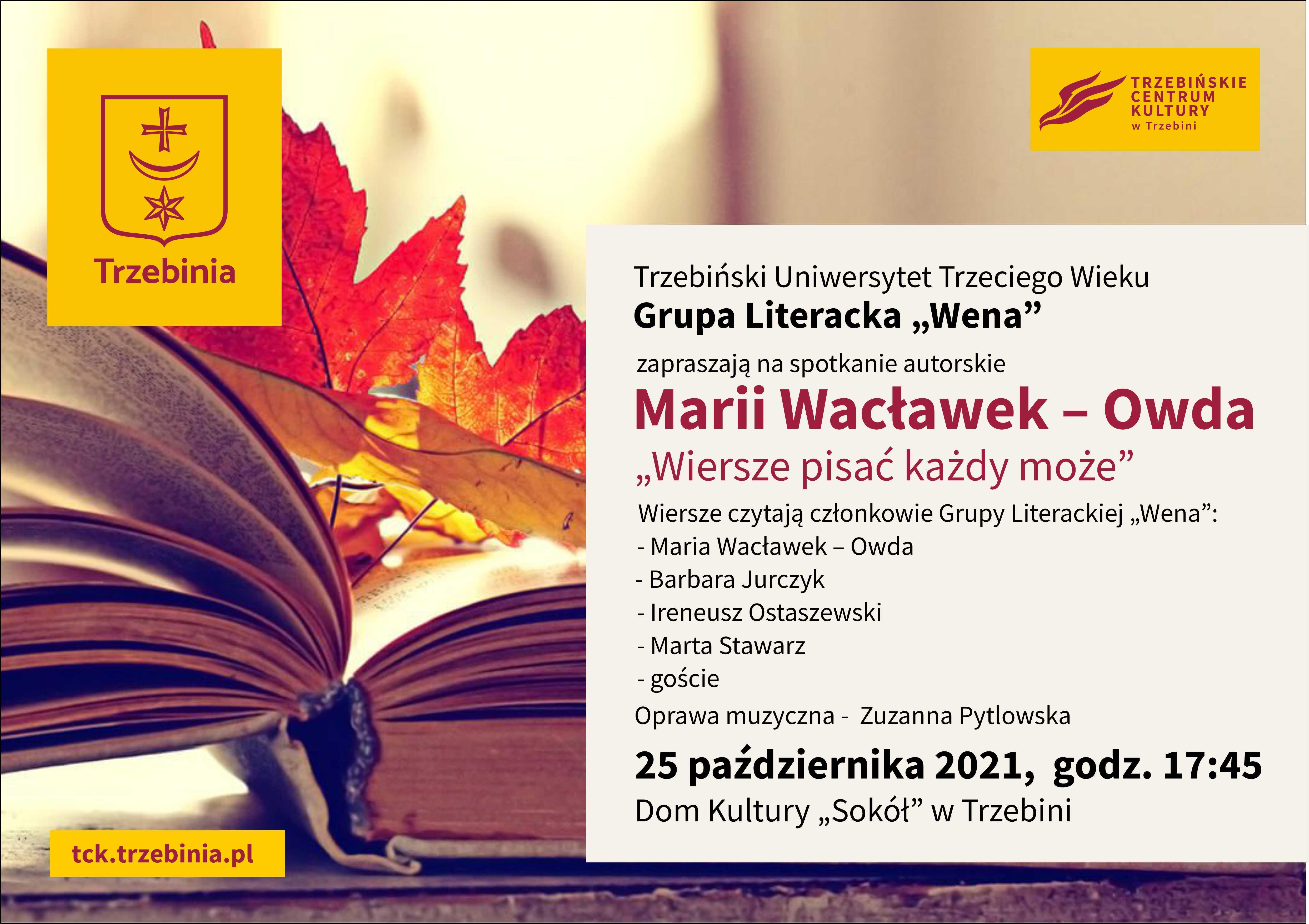 Spotkanie autorskie Marii Wacławek-Owda